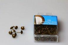 Ziernägel 90 1/3 (9 mm) altgold gefleckt rötlich - 100 Stück