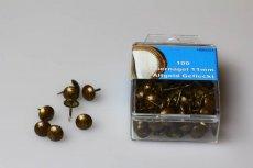 Ziernägel 130 1/3 (11 mm) altgold gefleckt rötlich - 100 Stück