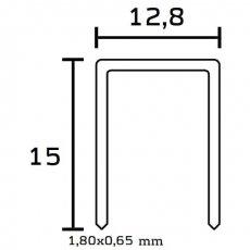 Klammer Typ BeA 195/25 NK     Schachtel = 5.000 Stück